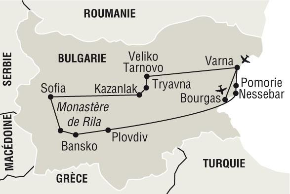 MAP BULGARIE